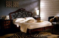 BORDIGNON CAMILLO - Bed Art. B-40 walnute