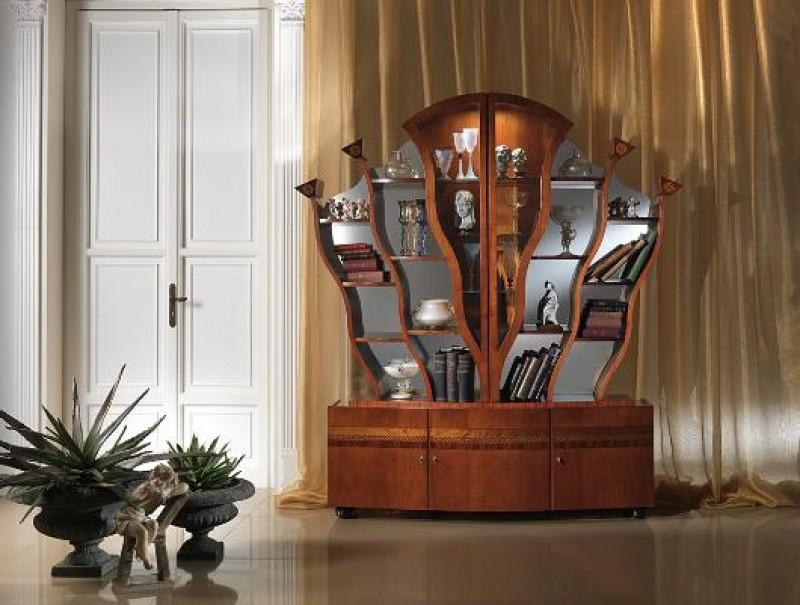 CARPANELLI - Glass cabinet – Tree bookcase Art. VL16